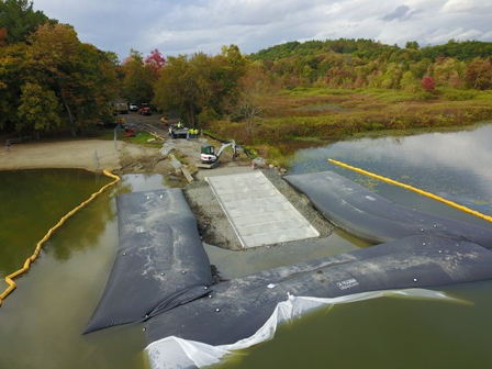 Construction of new boat ramp nearing completion
