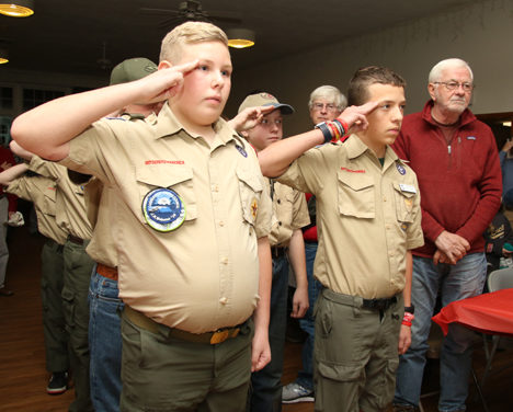 Scouts pay tribute to veterans with a pasta supper