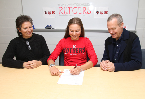 LHS's Hatfield signs to row at Rutgers University