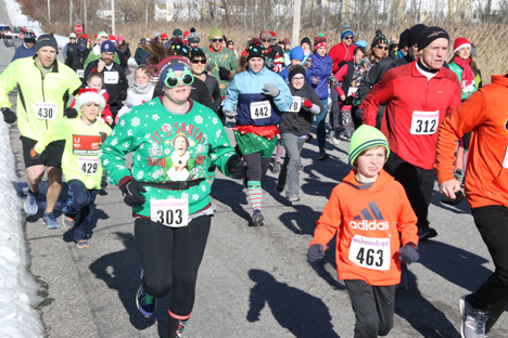Annual Jingle Bell Run was a festive celebration