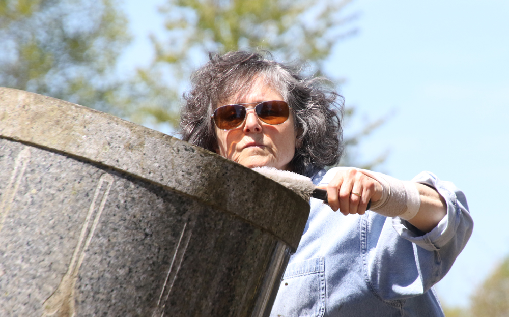 West Cemetery gravestones get a cleaning