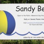 Sandy Beach open on weekends only