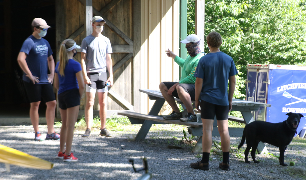 Rowing club returns to Bantam Lake