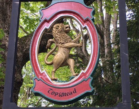 Topsmead  entrance sign restored