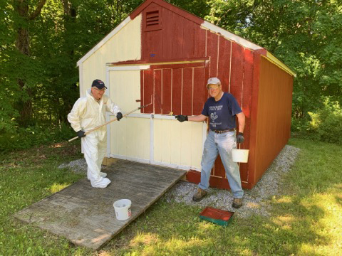 Lions Club storage shed gets new look