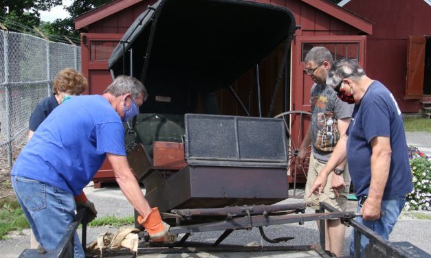 Made in Bantam, antique carriage comes home