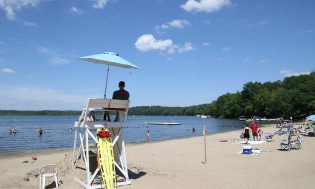 Beating the heat at Bantam Lake's Sandy Beach