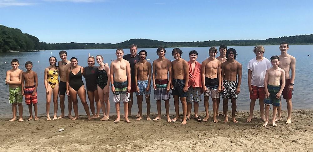 Swim team makes annual lake crossing