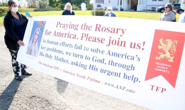 Rosary prayers at Our Lady of Grace