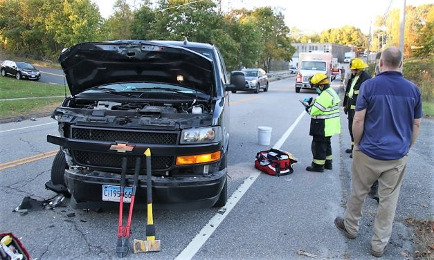 Collision strangles traffic on Route 209