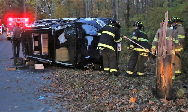 Driver injured in Morris rollover