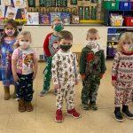 Goshen Center School in PJs for good cause