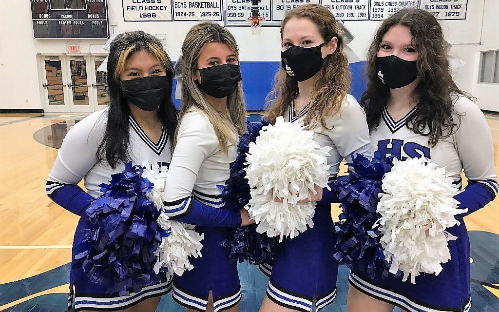 Litchfield cheerleaders showed spirit