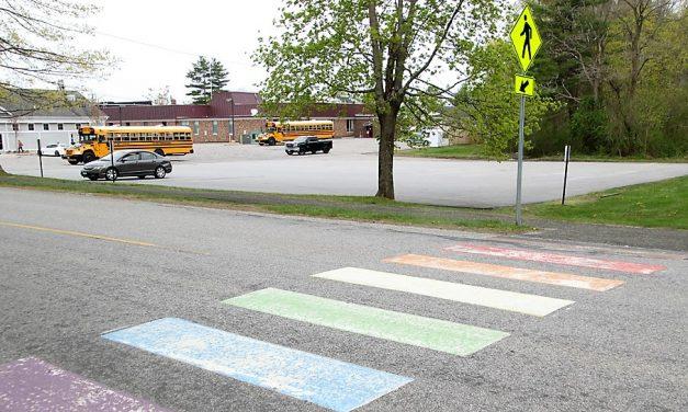 Colorful crosswalk to have short lifespan