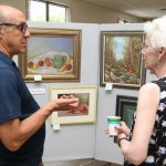 Artists exhibiting work at firehouse