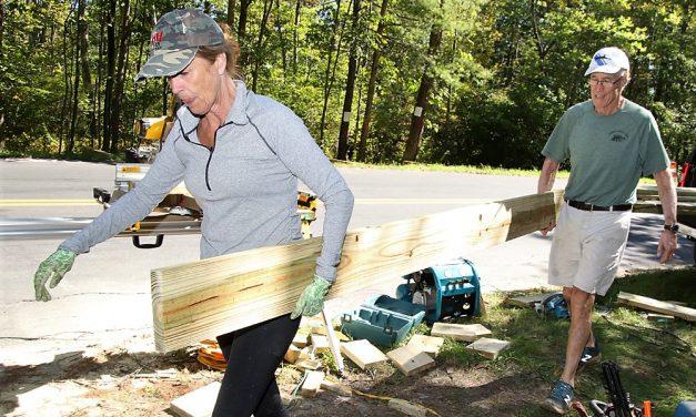 Greenway boardwalk construction underway