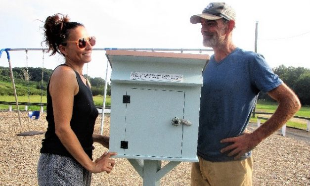 Morris artist gives book box to March Farm